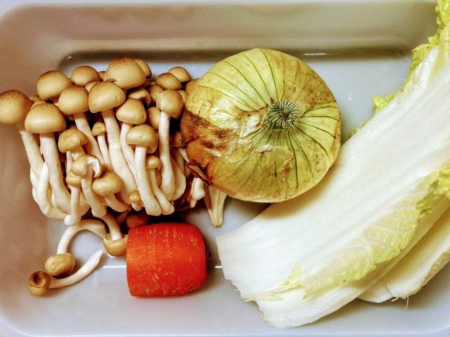 冷蔵庫の残り野菜
